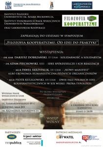 Plakat Sympozjum Kooperatyzm
