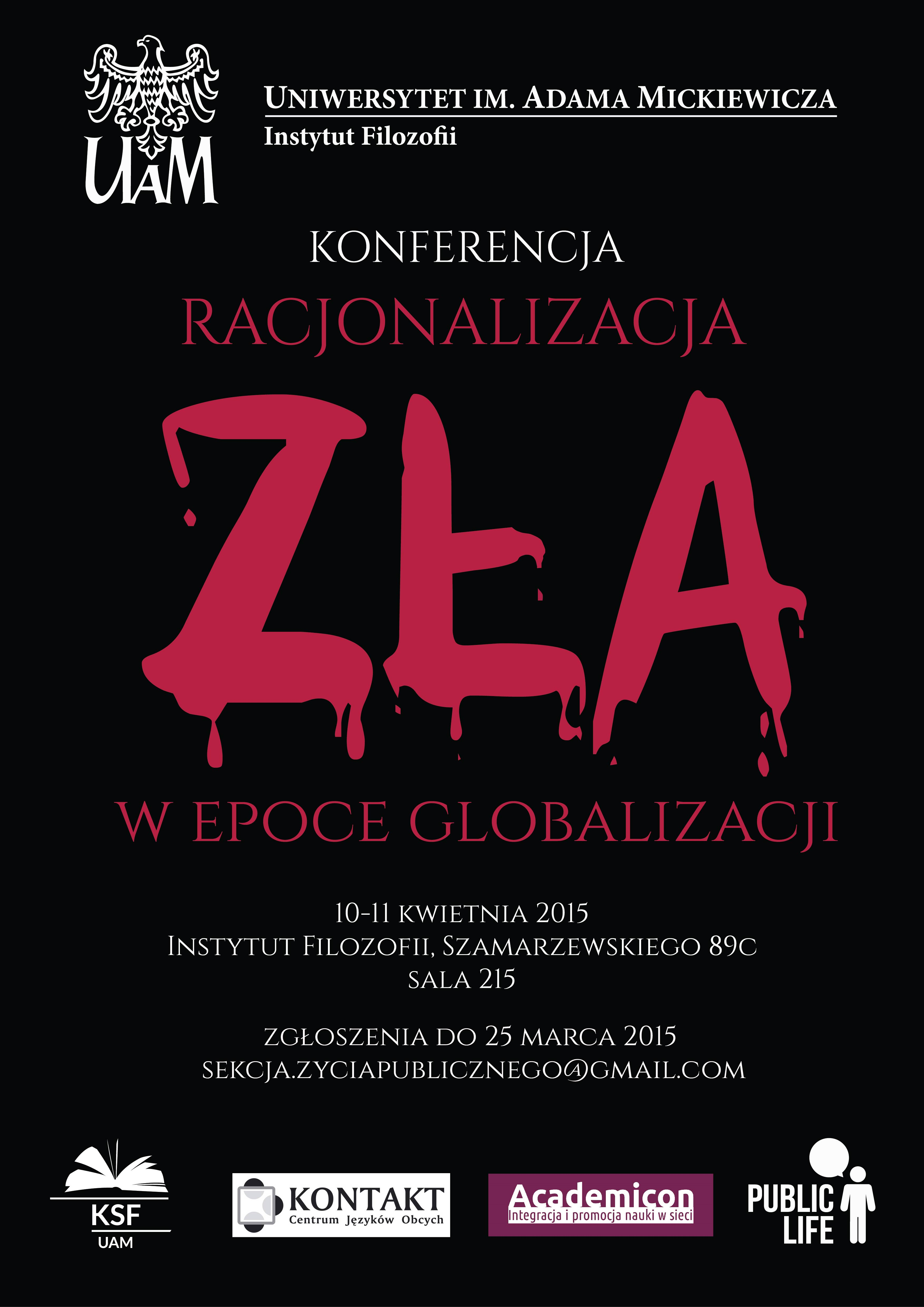 Konferencja: Racjonalizacja zła w epoce globalizacji