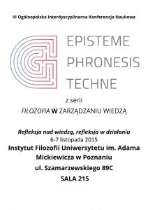 Konferencja FILOZOFIA W ZARZĄDZANIU WIEDZĄ