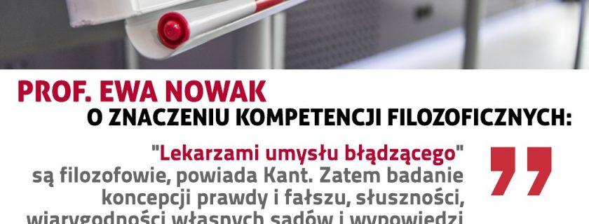 Prof. Ewa Nowak o pożytkach z kompetencji filozoficznych w czasach postprawdy i fake news
